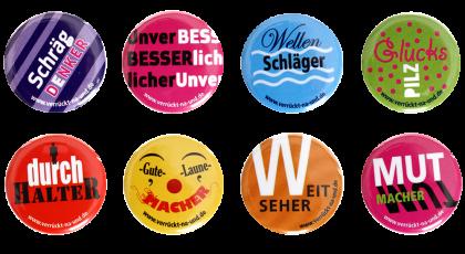 Buttons - Material von Irrsinnig Menschlich e.V.