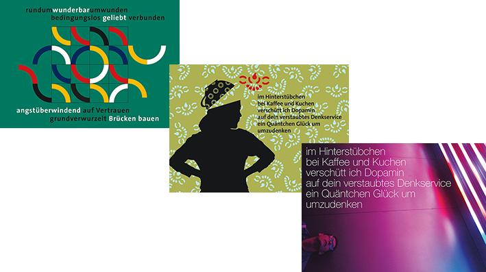 Postkarte Lyrik - Material von Irrsinnig Menschlich e.V.