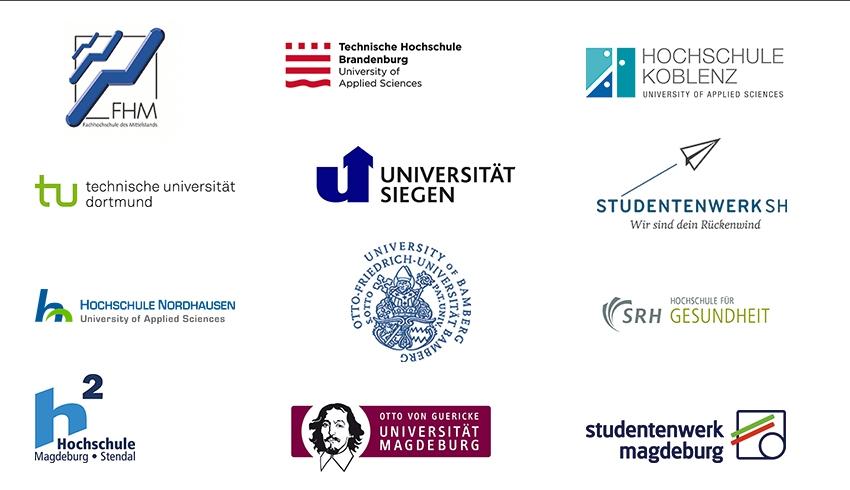 Psychisch fit studieren: Teilnehmende Hochschulen WS 2018/2019